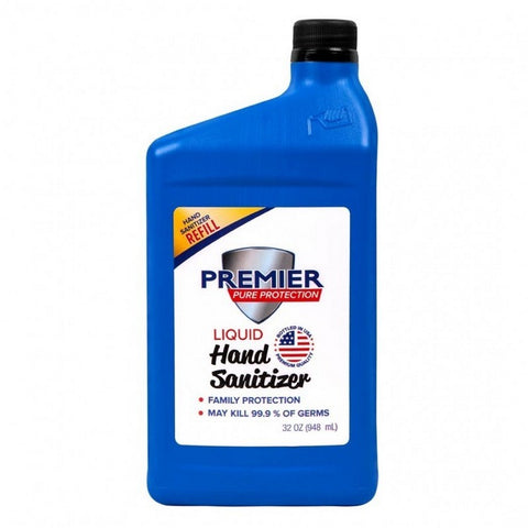 32 oz. Premier Pure Hand Sanitizer | No Customization | Made in USA | 20 Days | Minimum is 1 box of 18