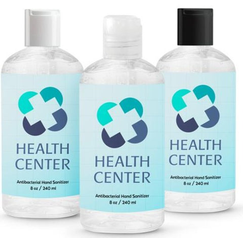 8 oz. Hand Sanitizer | Full Color Customization | Made in China | 30-60 Days | Minimum is 1 box of 25,000