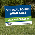 Virtual Tours Available Yard Signs (USA MADE | 8 Days)