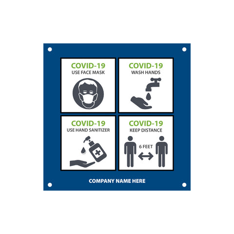 Safety Tips PVC Sign (USA MADE | 7 Days)