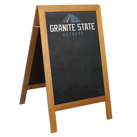 A-Frame Sidewalk Chalkboard | Made in USA | 7-10 Days | Minimum Quantity is 1 Piece