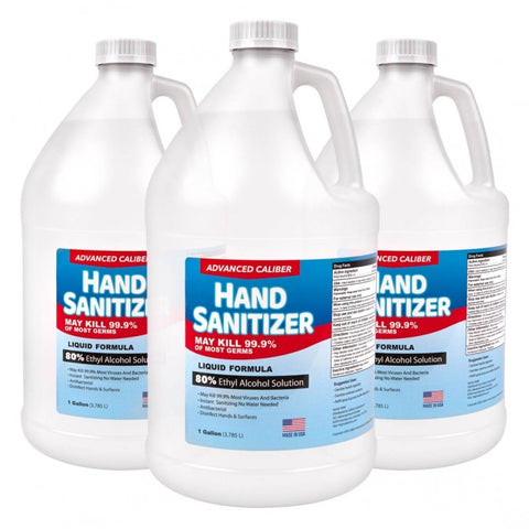 1 Gallon Premium Liquid Hand Sanitizer | No Customization | Made in USA | 5-7 Days | Minimum is 1 Box of 4