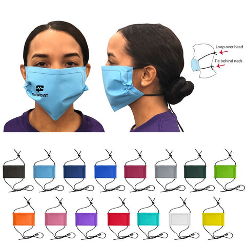 Disposable Non-Woven Face Mask | 1 Color Customization | Made in USA from Imported Matl's | 10 Days | Minimum is 1 Box of 150