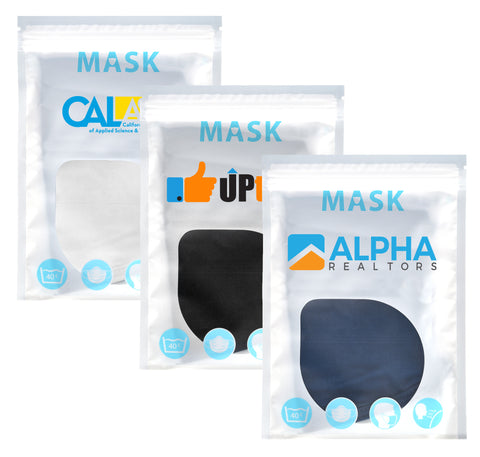 Urban 100% Cotton Value Mask | Full Color Customization | Made in USA | 3-7 Days | Minimum is 1 Box of 100.