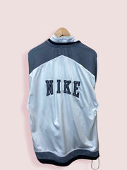 M 90s Nike White Grey Black Full Zip Track Top