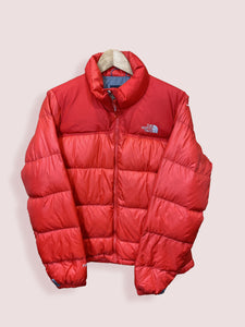 M Vintage TNF Nuptse 700 Puffer Coat Red Womens