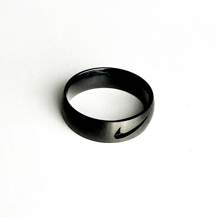 Swoosh Ring Cut Out Black
