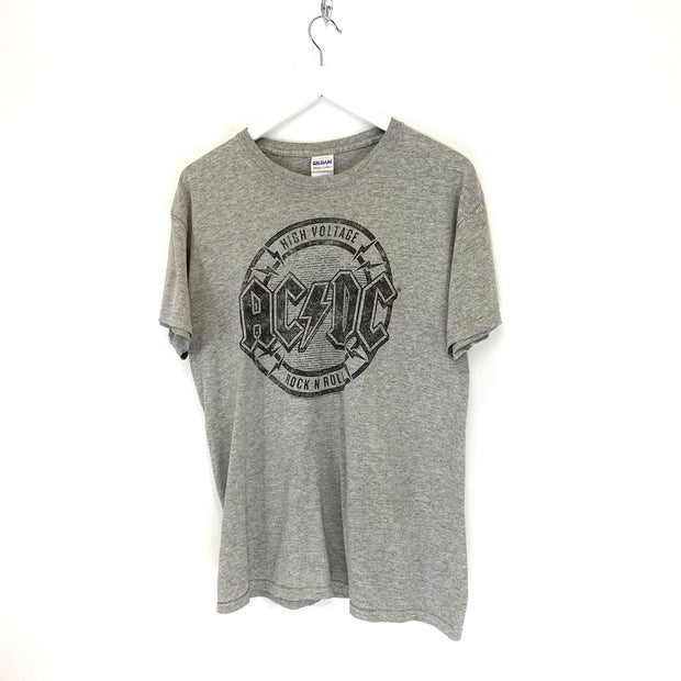 AC/DC Grey Printed Rock Tee (M) - DURT