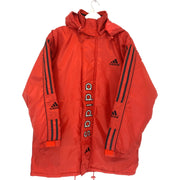 Adidas Red Vertical Spell Out Jacket (L) - DURT