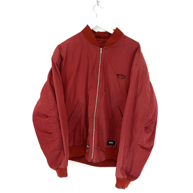 Boss Small Logo Red Bomber Jacket (M) - DURT