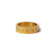 Louis V Mono Ring Gold