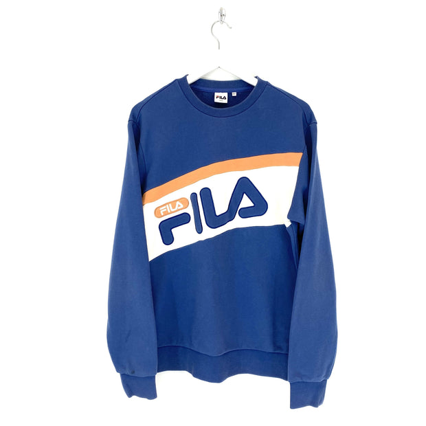 Fila Blue Spell Out Sweatshirt (L) - DURT