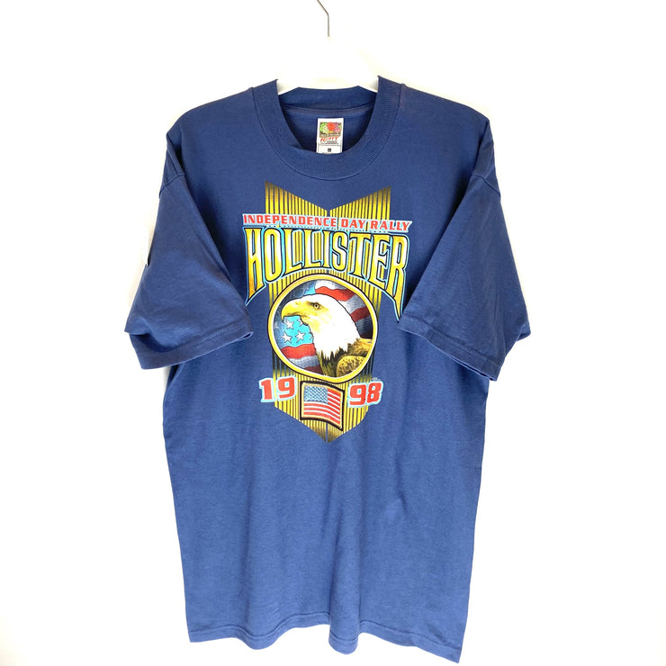 Hollister Independence Motorcycle Rally '98 Tee (L) - DURT