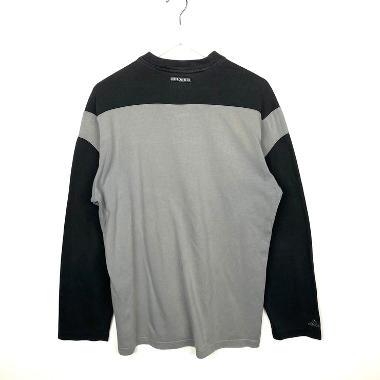Adidas Spell Out V-Neck Sweatshirt (M)