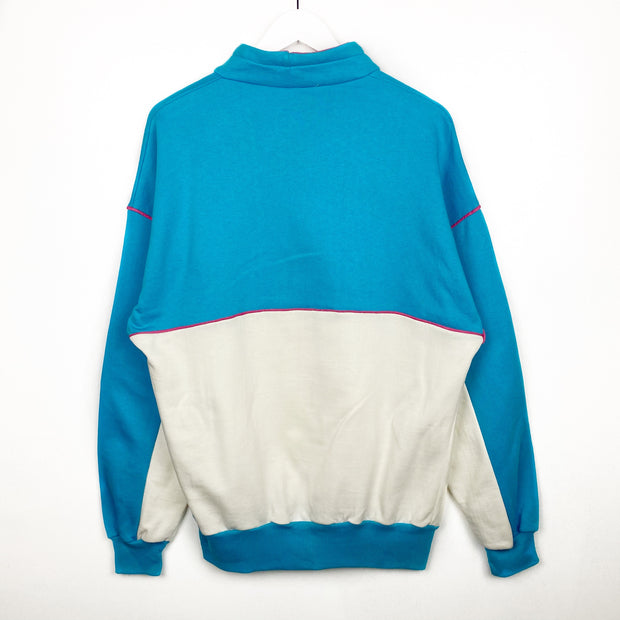 Retro 80s Mock Neck Sweatshirt (M)