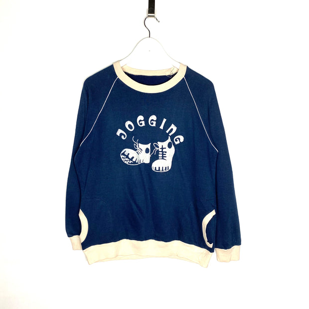 Retro Jogging Printed Sweatshirt (XS)