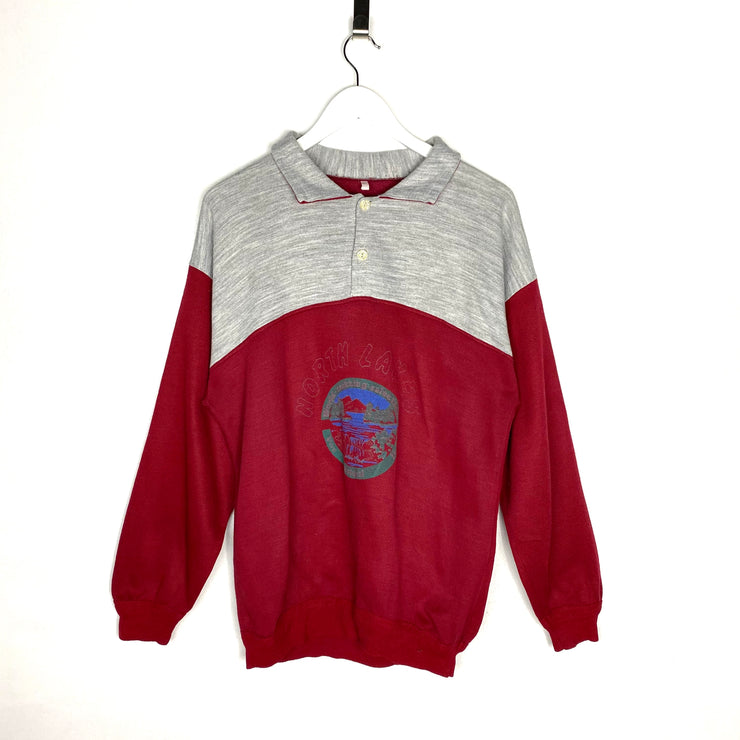 North Lakes Polo Style Retro Sweatshirt (M)
