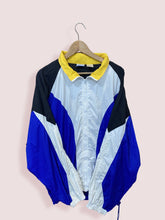 Load image into Gallery viewer, L 00s Vintage Reebok Full Zip Shell Windbreaker White Blue - DURT