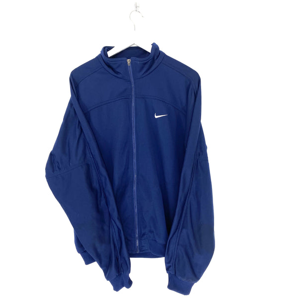 L Nike Navy Track Top Large Back Logo - DURT