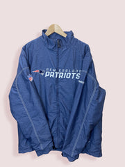 L Reebok NFL NE Patriots Full Zip Jacket - DURT