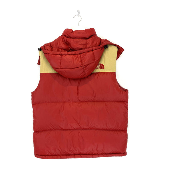 L TNF Nuptse Style Gilet Red & Tan - DURT
