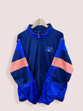 Load image into Gallery viewer, L Vintage Puma Full Zip Track Top Orange Blue Navy - DURT