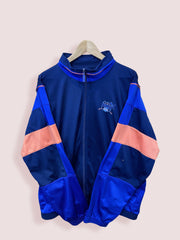 L Vintage Puma Full Zip Track Top Orange Blue Navy - DURT