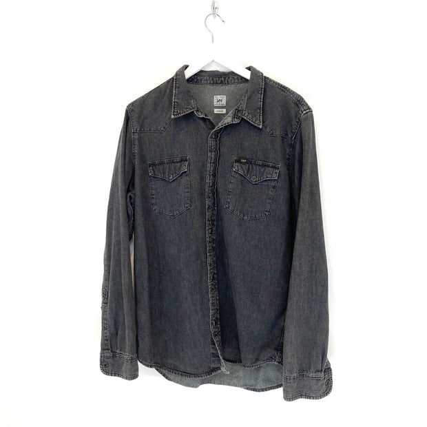 Lee Grey Denim Style Shirt (M) - DURT