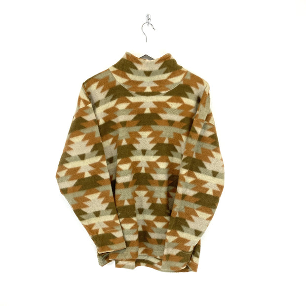 M Aztec Print High Neck Fleece - DURT