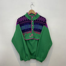 Load image into Gallery viewer, M BMC Green Aztec Print Button Down Fleece - DURT