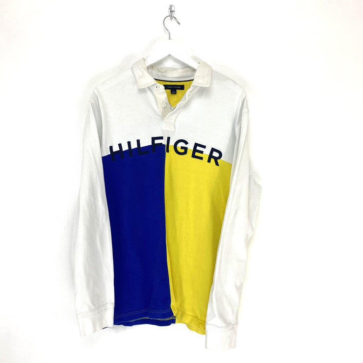 M Hilfiger Spell Out Rugby Top - DURT