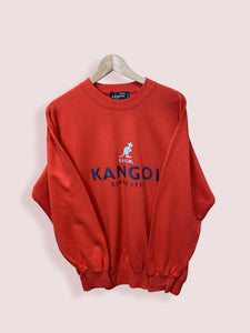 M Kangol Red Spell Out Crewneck Sweatshirt - DURT