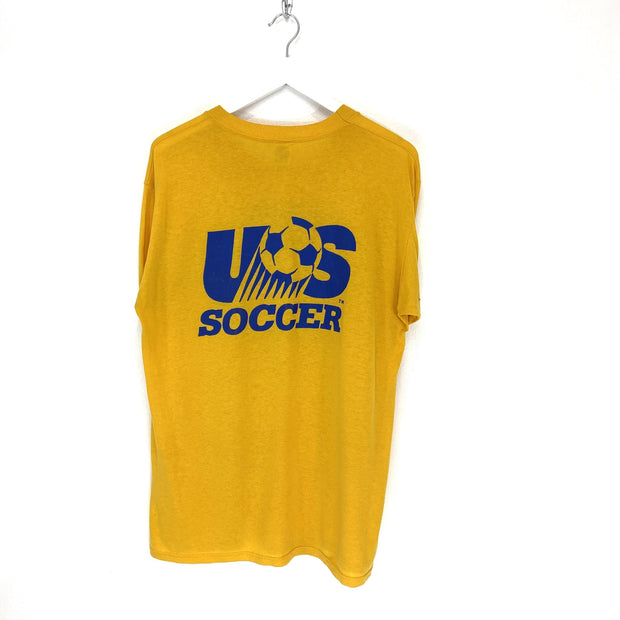 M US Soccer Yellow Tee - DURT