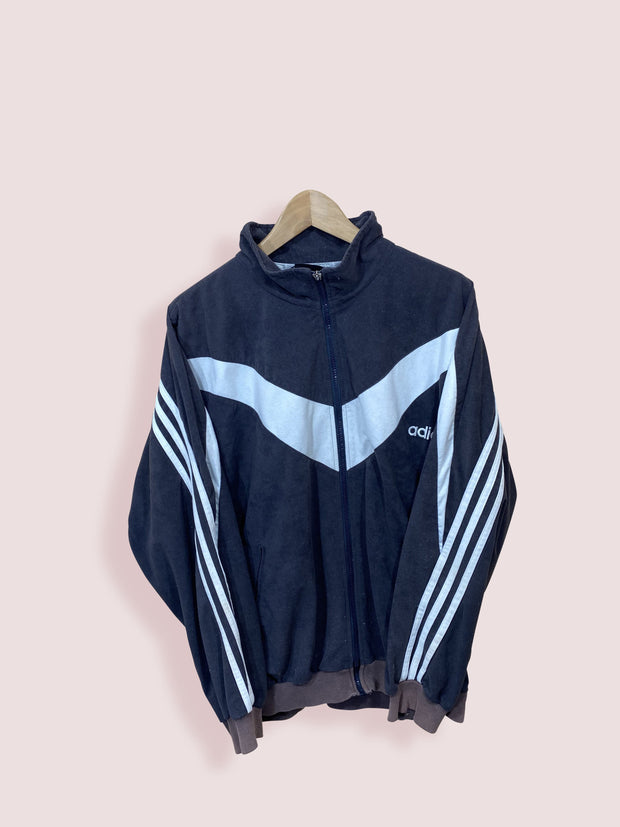 M Vintage Adidas Brown Full Zip Track Top - DURT