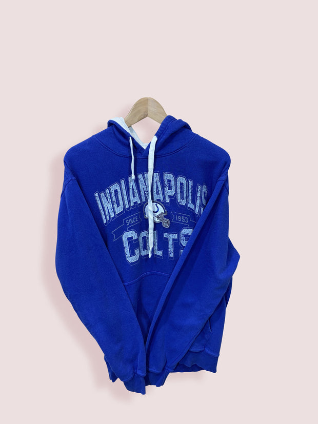 M Vintage NFL Indianapolis Colts Classic Front Logo Hoodie - DURT