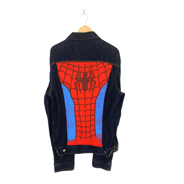 M Vintage Rework Spiderman Denim Jacket - DURT