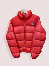 Load image into Gallery viewer, M Womens Vintage TNF Nuptse 700 Red Puffer Jacket - DURT