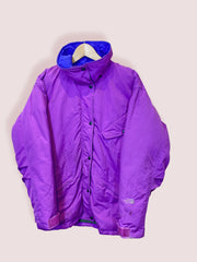 M Womens Vintage TNF Purple Puffer Jacket - DURT