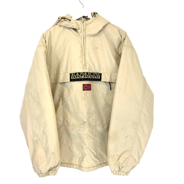 Napapijri Quarter Zip Bootleg Hooded Jacket (2XL) - DURT