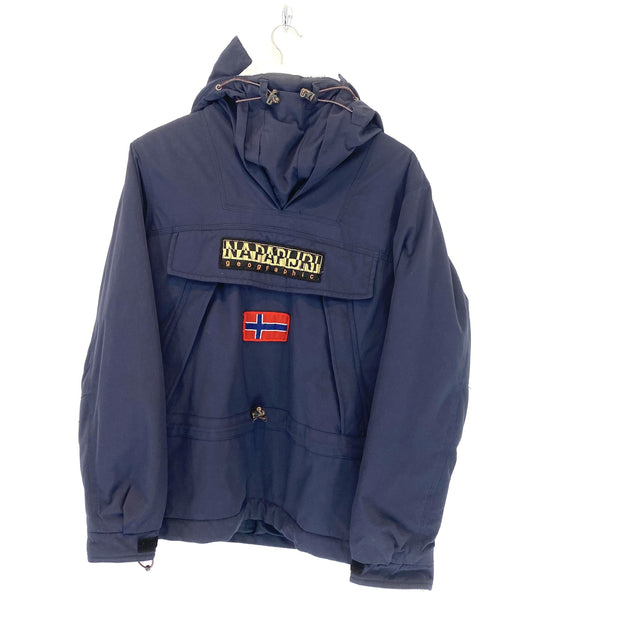 Napapijri Quarter Zip Bootleg Hooded Jacket (M) - DURT