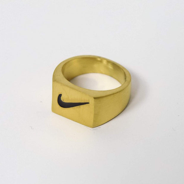 Nike Square Face Gold Ring - DURT