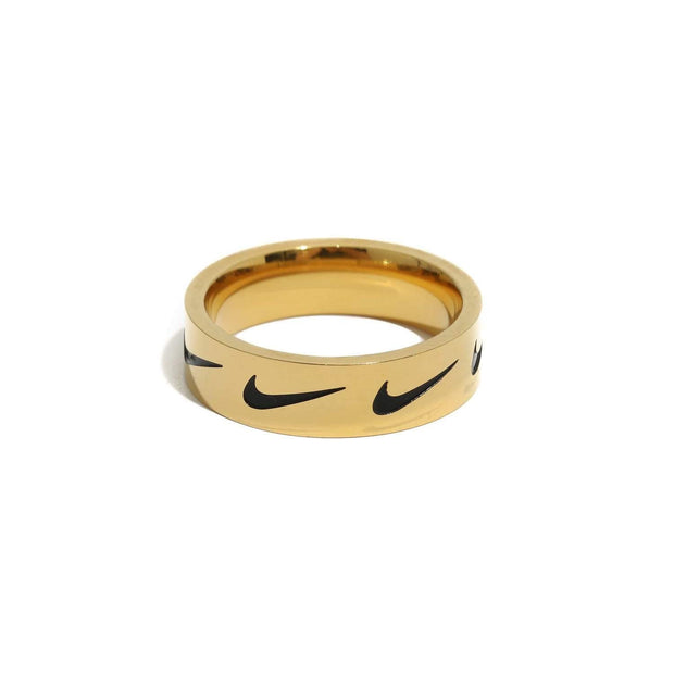 Nike Swoosh Repeat Ring Gold - DURT