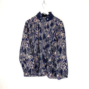 Reebok Abstract Print Full Zip Windbreaker (Women's M) - DURT