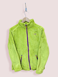 S Vintage Lotto Full Zip Green Fluffy Fleece - DURT