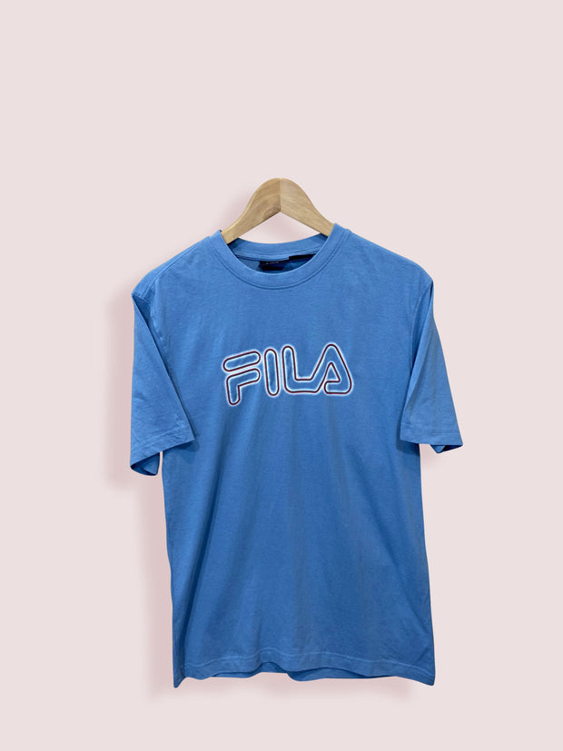 S Vintage Spell Out Puma Blue Tee - DURT