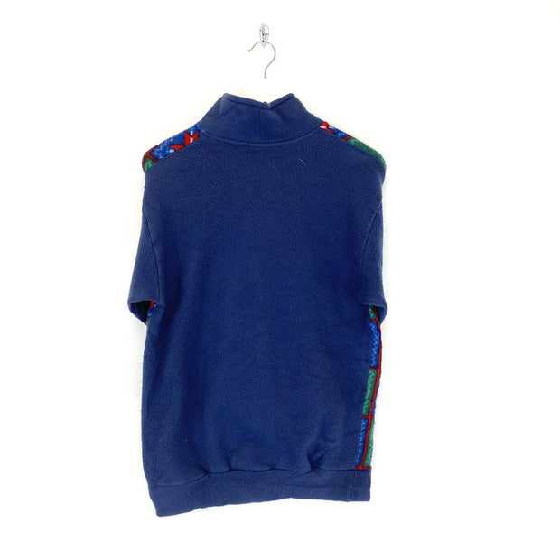 S Winter Print Blue Quarter Zip Fleece - DURT