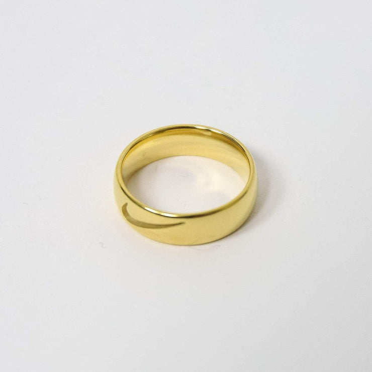 Swoosh Ring Cut Out Gold