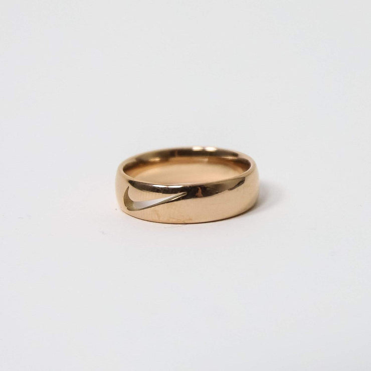 Swoosh Ring Cut Out Rose Gold