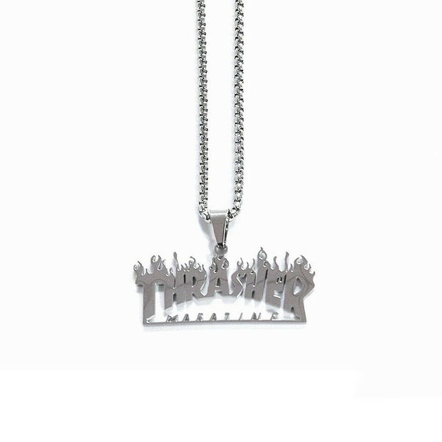 Thrasher Necklace Silver - DURT