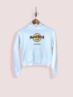 Vintage Hard Rock Cafe Florence White Hoodie. Extra Small - DURT